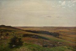 Mountain slide near Horsens. Afternoon | Vilhelm Kyhn | Oil Painting