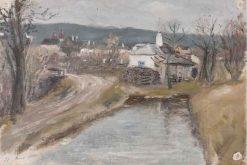 Village View   Leopold Blauensteiner   Oil Painting