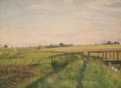 Landscape with a Bridge | Vilhelm Kyhn | Oil Painting
