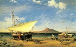 Mending the Nets in the Bay of Naples | Edward William Cooke