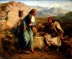 Greek Shepherd and Maiden by a Well | Paul Falconer Poole | Oil Painting
