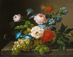 Still Life with Flowers and Fruit | Franz Xavier Petter | Oil Painting