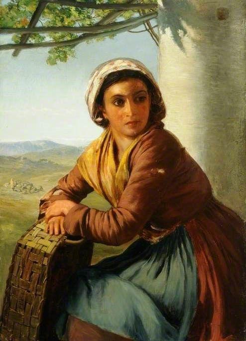 A Capri Girl | Paul Falconer Poole | Oil Painting