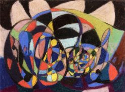 Abstract Composition (also known as Figure in Oval) | Adolf Hölzel | Oil Painting