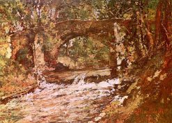 Bridge over the Huveaune | Adolphe-Joseph-Thomas Monticelli | Oil Painting