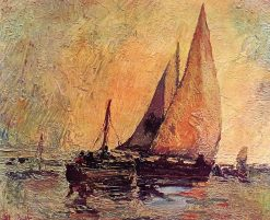 Boats at Cassis | Adolphe-Joseph-Thomas Monticelli | Oil Painting