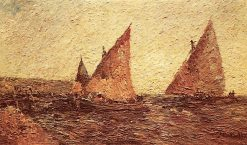 Two Boats | Adolphe-Joseph-Thomas Monticelli | Oil Painting