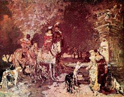 Hunting Scene | Adolphe-Joseph-Thomas Monticelli | Oil Painting