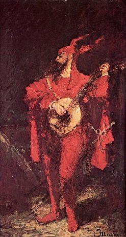 Self-Portrait as Méphisto | Adolphe-Joseph-Thomas Monticelli | Oil Painting