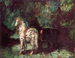 Monsieur Artufel's Horses | Adolphe-Joseph-Thomas Monticelli | Oil Painting