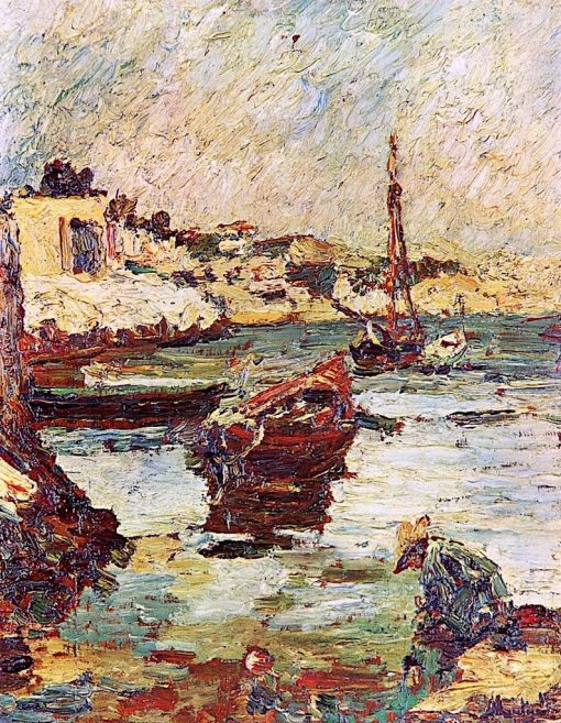 Cove and Boats | Adolphe-Joseph-Thomas Monticelli | Oil Painting