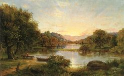 Spring Scene (No. 2) | Jasper Francis Cropsey | Oil Painting