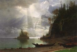 Island in the Lake   Albert Bierstadt   Oil Painting