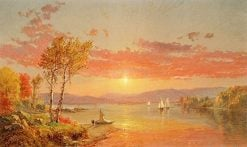 Sailing on the Lake | Jasper Francis Cropsey | Oil Painting