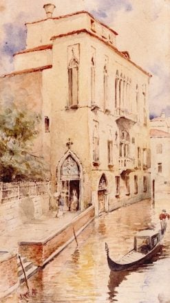 A Venetian Palazzo (also known as Palazzo Sand on the Rio de la Panada) | John White Alexander | Oil Painting
