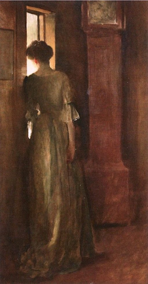At the Window | John White Alexander | Oil Painting