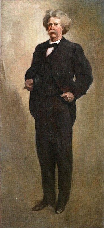 Sketch of Mark Twain | John White Alexander | Oil Painting