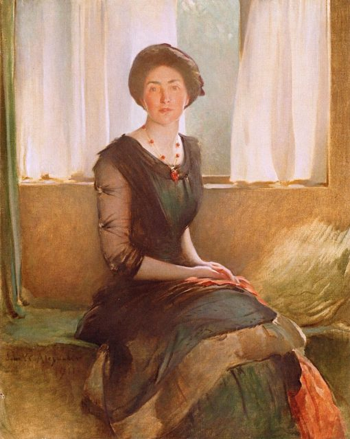 Portrait of a Lady (Elizabeth A. Alexander) | John White Alexander | Oil Painting