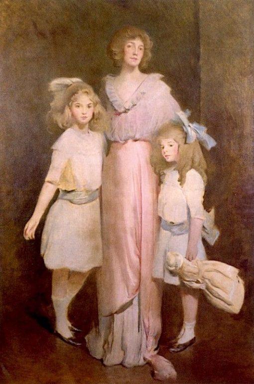 Mrs. Florence Goodyear Wagner Daniels and Children | John White Alexander | Oil Painting