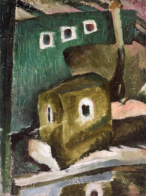 Harlem River Boats   Arthur Dove   Oil Painting