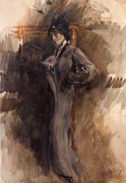 Jeune dame en toilette de sortie | Giovanni Boldini | Oil Painting