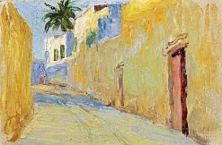 Lane in Tunis (also known as Gasse in Tunis) | Gabriele Münter | Oil Painting