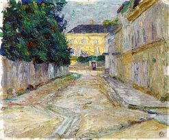 In Sèvres (also known as Street in Bellevue) | Gabriele Münter | Oil Painting