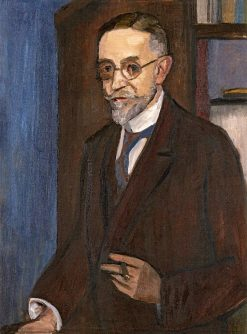 Portrait of Georg Schroeter (also known as Man with a Cigar) | Gabriele Münter | Oil Painting