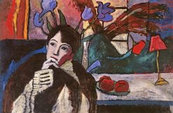 Woman in Thought (also known as Musing) | Gabriele Münter | Oil Painting