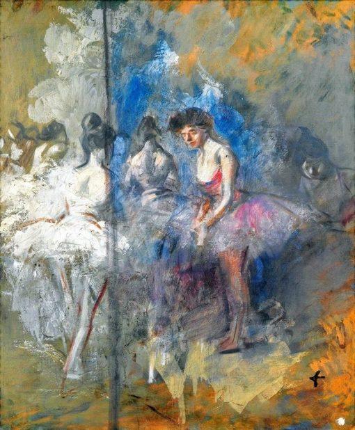 Danseuses dans les coulisses | Jean-Louis Forain | Oil Painting