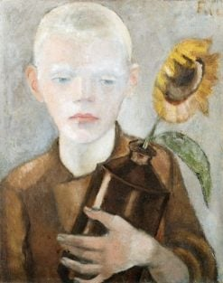 Boy with Sunflower Pitcher | Anita Rée | Oil Painting