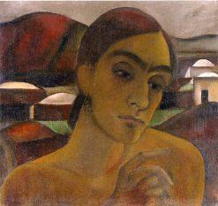 Self-Portrait on Pantelleria   Anita Rée   Oil Painting