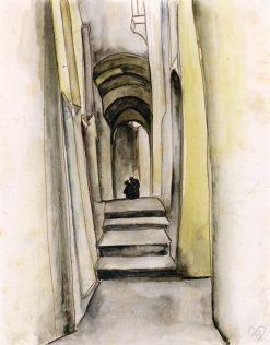 Monks in an Alleyway | Anita Rée | Oil Painting