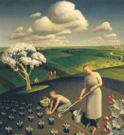 Spring in the Country | Grant Wood | Oil Painting