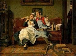 A Bit of Banter | Edgar Bundy | Oil Painting