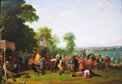 Militia training   James Goodwyn Clonney   Oil Painting