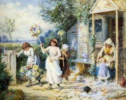 Garland Day | Myles Birket Foster | Oil Painting