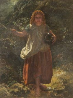 Girl in Wood | Paul Falconer Poole | Oil Painting