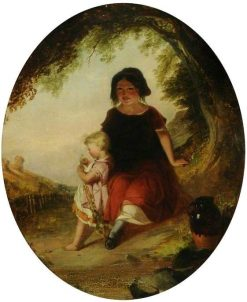 Gypsy Children   Paul Falconer Poole   Oil Painting