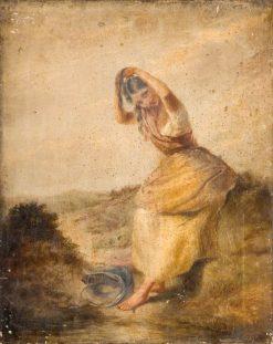 Peasant Girl in Moorland | Paul Falconer Poole | Oil Painting
