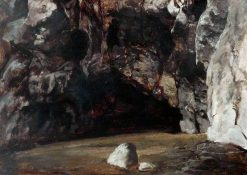 Sketch of a Cave | Paul Falconer Poole | Oil Painting