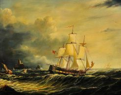 A British vessel in the races | Thomas Lyde Hornbrook | Oil Painting