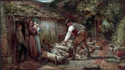 The Woodcutter   Thomas Falcon Marshall   Oil Painting