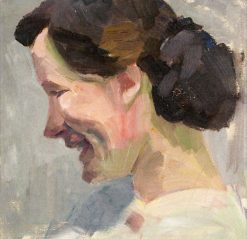 Portrait of Lotte Burk on Sylt   Anita Rée   Oil Painting