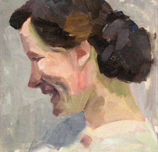 Portrait of Lotte Burk on Sylt | Anita Rée | Oil Painting