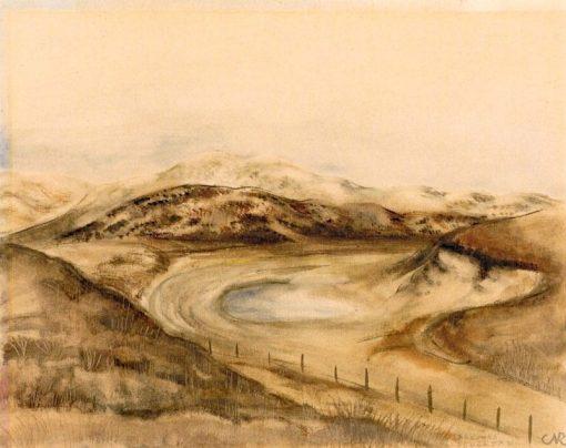 Brown Dune Slack | Anita Rée | Oil Painting
