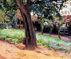 Chestnut in the forecourt of Neukastel | Max Slevogt | Oil Painting
