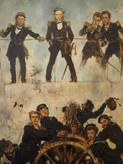 Admiral Tegetthoff in the Naval Battle of Lissa   Anton Romako   Oil Painting