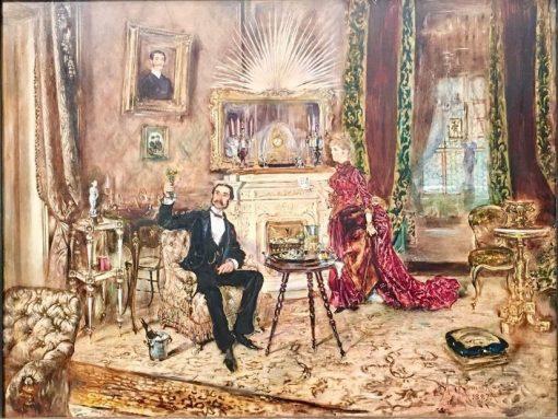 Elegant Couple in an Interior | Anton Romako | Oil Painting