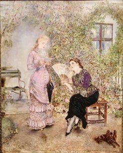 Two Ladies | Anton Romako | Oil Painting